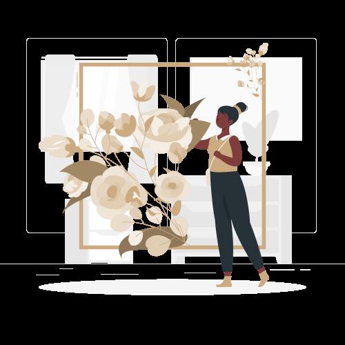 Illustratie frame bloemen